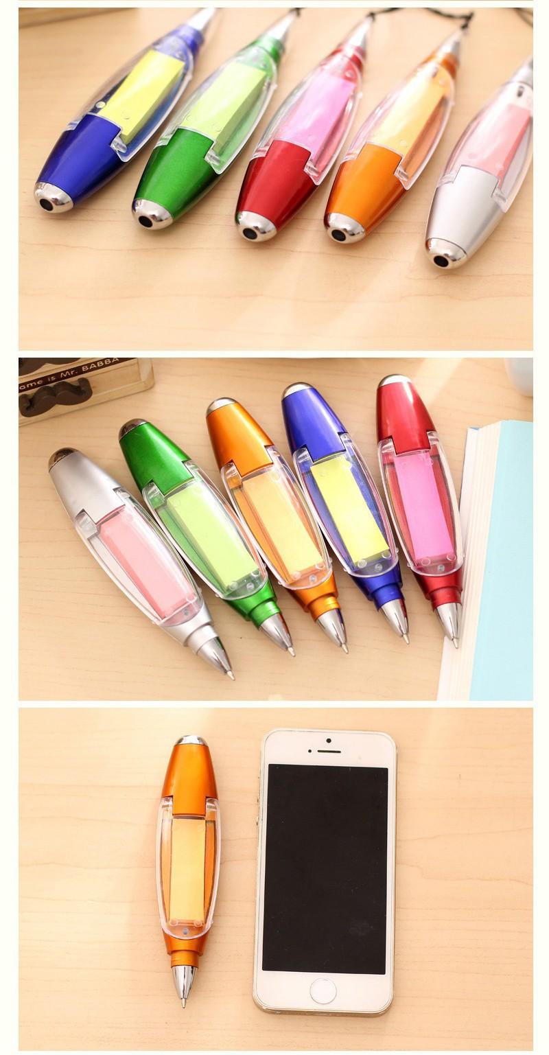 Ручка блокнот с фонариком ручка шпаргалка с бумагой внутри 08 - Ручка-блокнот с фонариком, ручка-шпаргалка с бумагой внутри