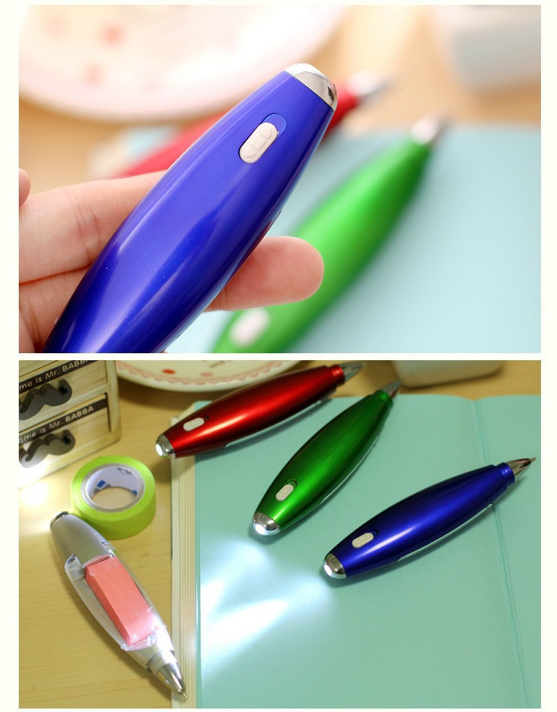 Ручка блокнот с фонариком ручка шпаргалка с бумагой внутри 09 - Ручка-блокнот с фонариком, ручка-шпаргалка с бумагой внутри