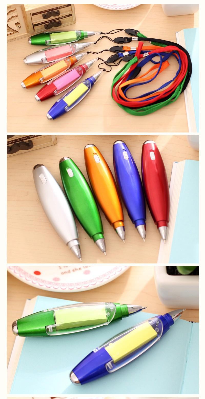 Ручка блокнот с фонариком ручка шпаргалка с бумагой внутри 11 - Ручка-блокнот с фонариком, ручка-шпаргалка с бумагой внутри