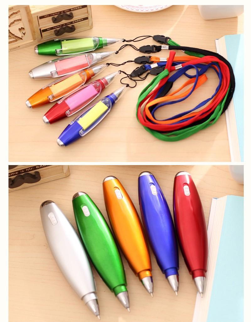 Ручка блокнот с фонариком ручка шпаргалка с бумагой внутри 16 - Ручка-блокнот с фонариком, ручка-шпаргалка с бумагой внутри