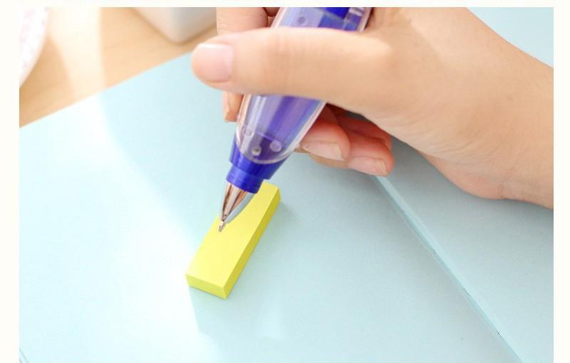 Ручка блокнот с фонариком ручка шпаргалка с бумагой внутри 18 - Ручка-блокнот с фонариком, ручка-шпаргалка с бумагой внутри