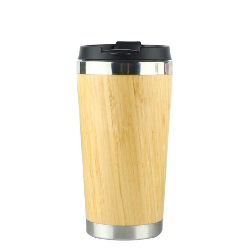 Термочашка Бамбук сталь 304 450 мл дизайн натурального дерева 06 - Термочашка Бамбук, сталь 304, 450 мл, дизайн натурального дерева