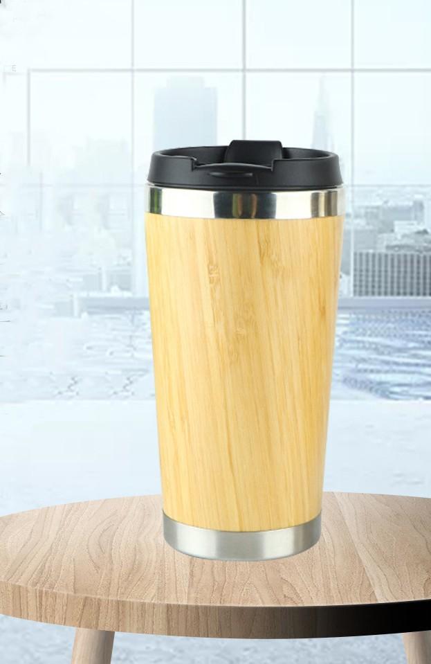 Термочашка Бамбук сталь 304 450 мл дизайн натурального дерева 12 - Термочашка Бамбук, сталь 304, 450 мл, дизайн натурального дерева
