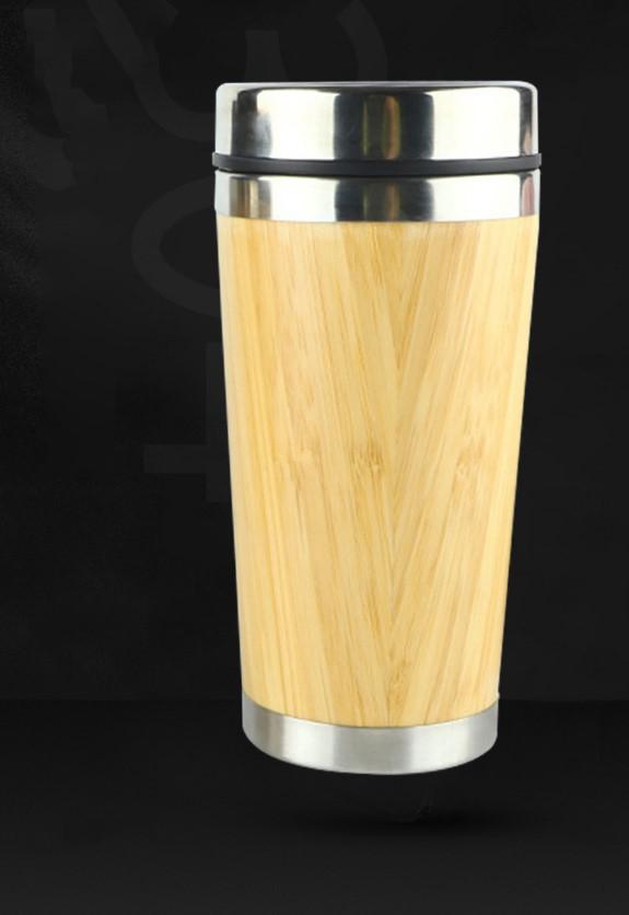 Термочашка Бамбук сталь 304 450 мл дизайн натурального дерева 14 - Термочашка Бамбук, сталь 304, 450 мл, дизайн натурального дерева
