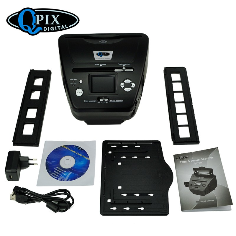 Сканер фотопленки QPix PS970H с USB поддержка SD карт до 128 Мб 01 - Сканер фотопленки QPix PS970H с USB, поддержка SD-карт до 128 Мб, поддержка 35-мм пленки, слайды, визитки