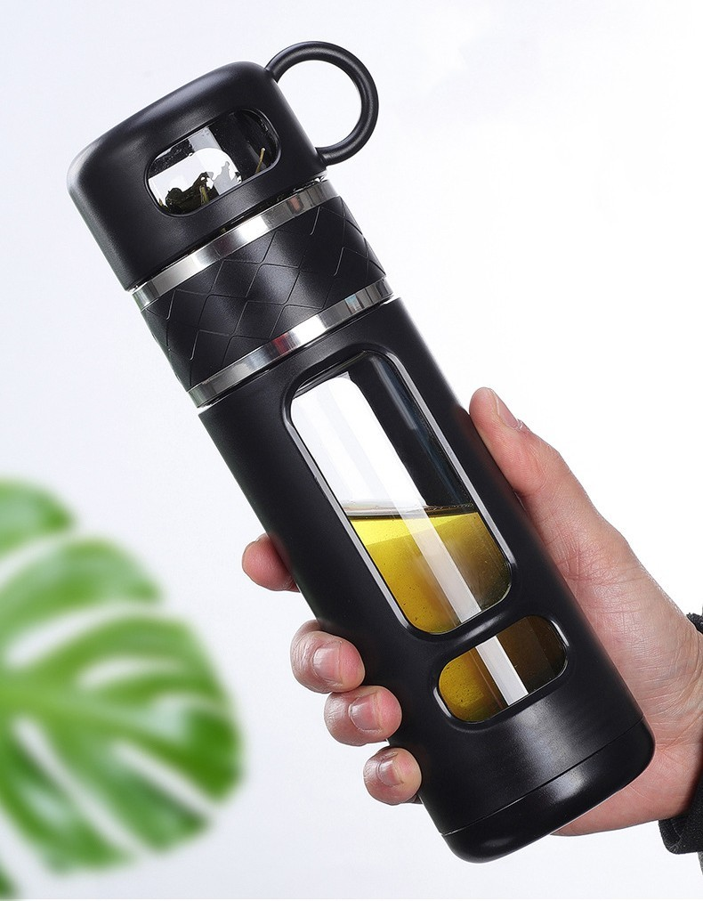 инфузер большой емкости термос 520 мл Tea Spills 17 - Термочашка-инфузер большой емкости, термос 520 мл Tea Spills