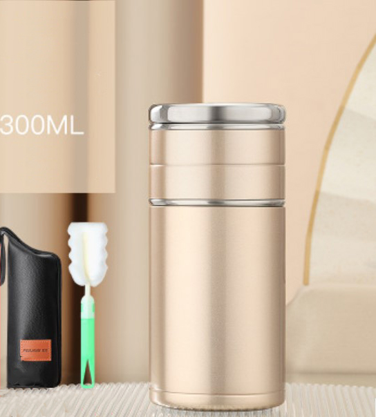 124 - Стальная термочашка с инфузером BigInJapan, термокружка с сепаратором для чая 250-500 мл