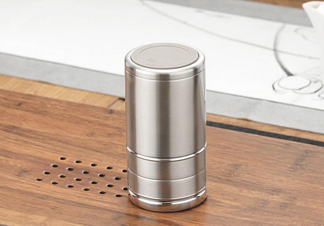 2 - Стальная термочашка с инфузером BigInJapan, термокружка с сепаратором для чая 250-500 мл