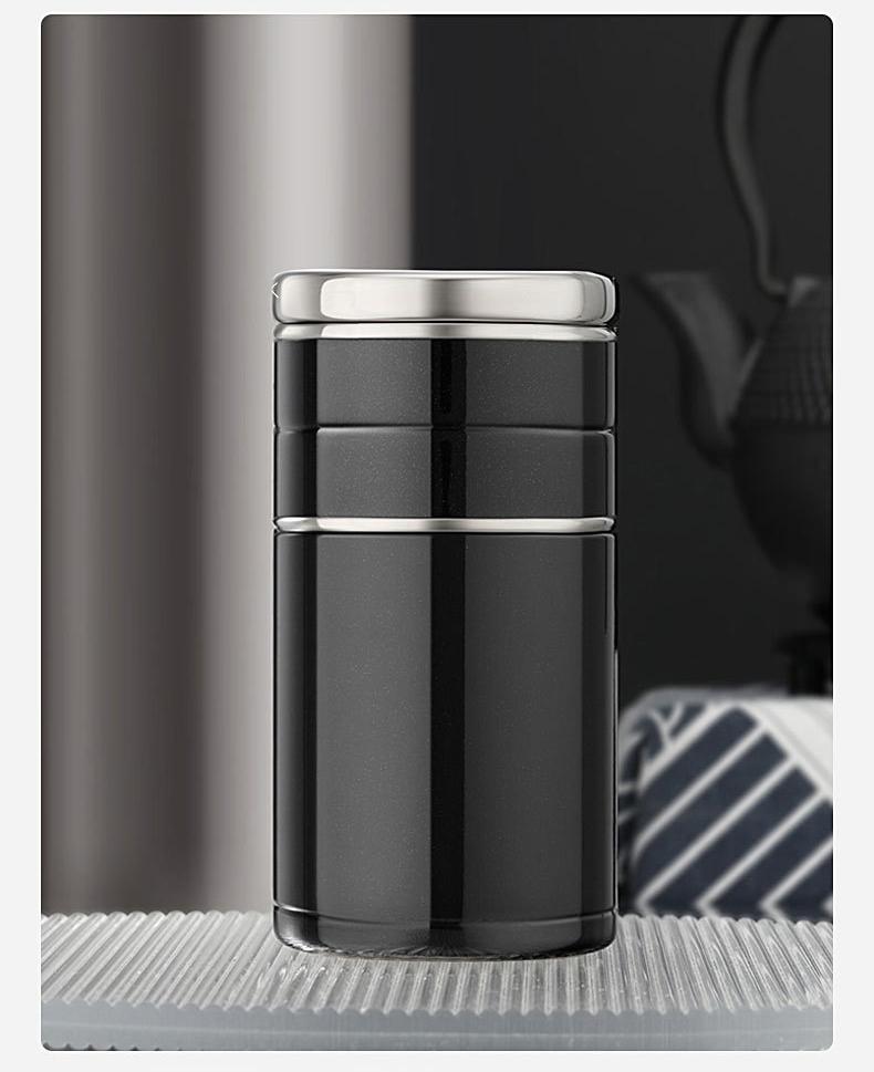 22034395813 11470864261 - Стальная термочашка с инфузером BigInJapan, термокружка с сепаратором для чая 250-500 мл