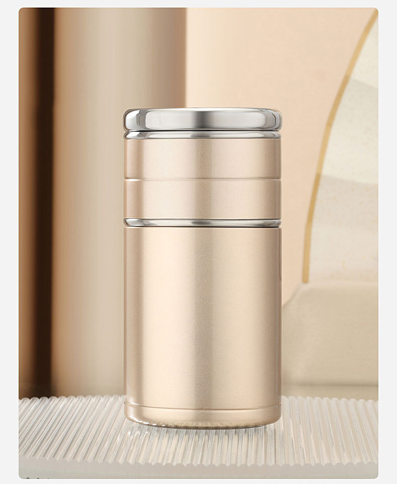 22034395813 11470864261245 - Стальная термочашка с инфузером BigInJapan, термокружка с сепаратором для чая 250-500 мл