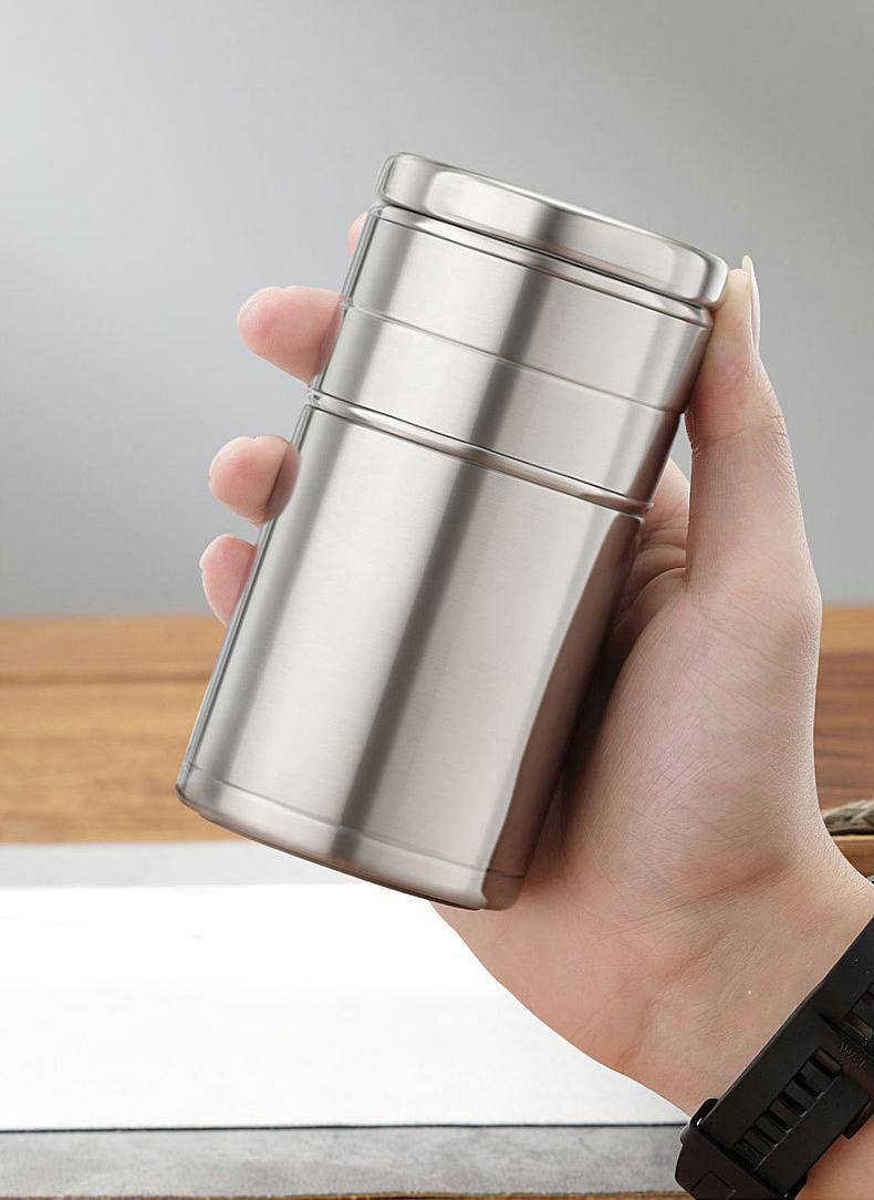 22034428139 11470864261286 - Стальная термочашка с инфузером BigInJapan, термокружка с сепаратором для чая 250-500 мл