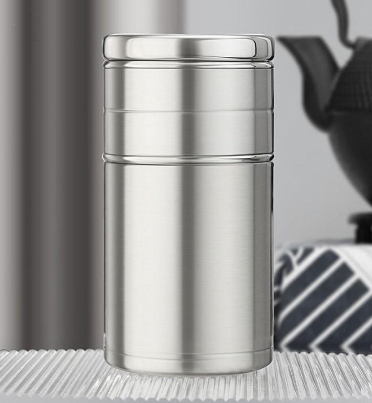 3 - Стальная термочашка с инфузером BigInJapan, термокружка с сепаратором для чая 250-500 мл