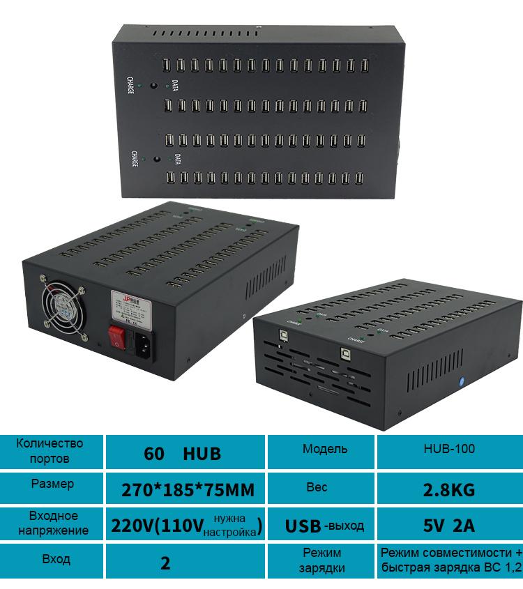 многопортовый концентратор USB для зарядки и передачи данных 12 - Двухканальный многопортовый концентратор USB для зарядки и передачи данных (10/16/20/30/48/60/100 портов)