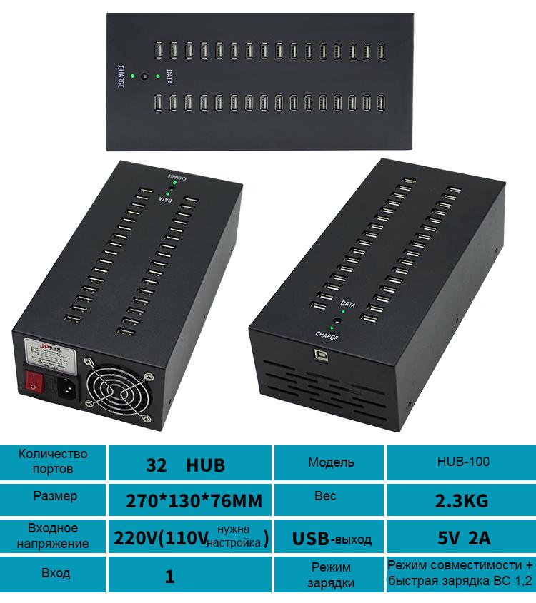 многопортовый концентратор USB для зарядки и передачи данных 2 - Двухканальный многопортовый концентратор USB для зарядки и передачи данных (10/16/20/30/48/60/100 портов)