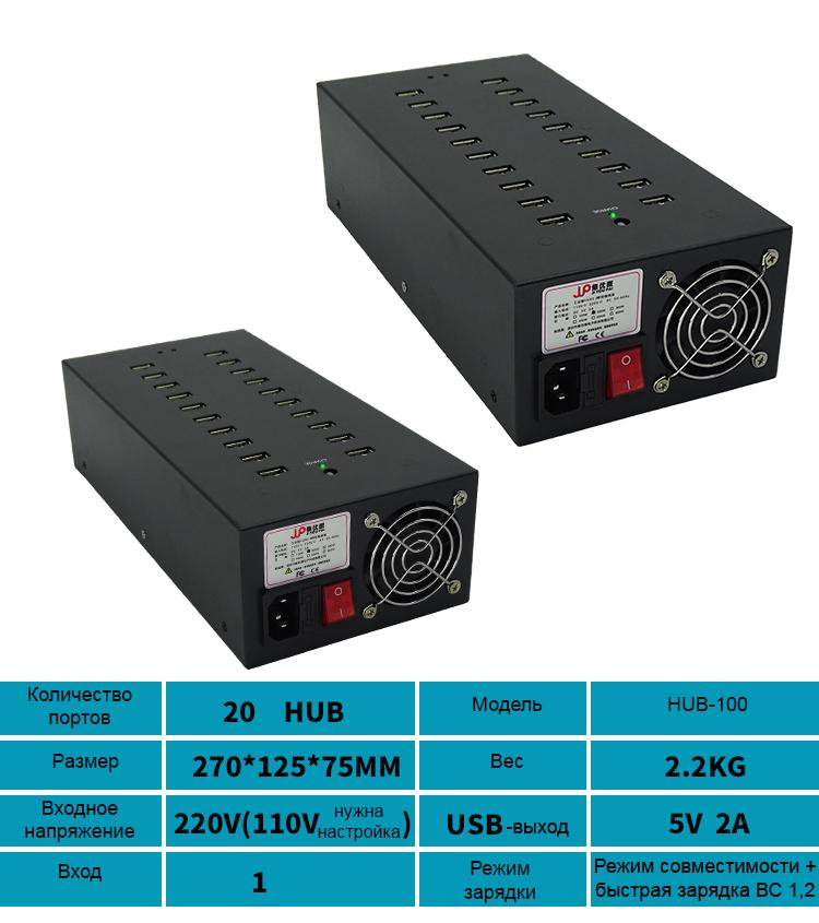 многопортовый концентратор USB для зарядки и передачи данных 9 - Двухканальный многопортовый концентратор USB для зарядки и передачи данных (10/16/20/30/48/60/100 портов)