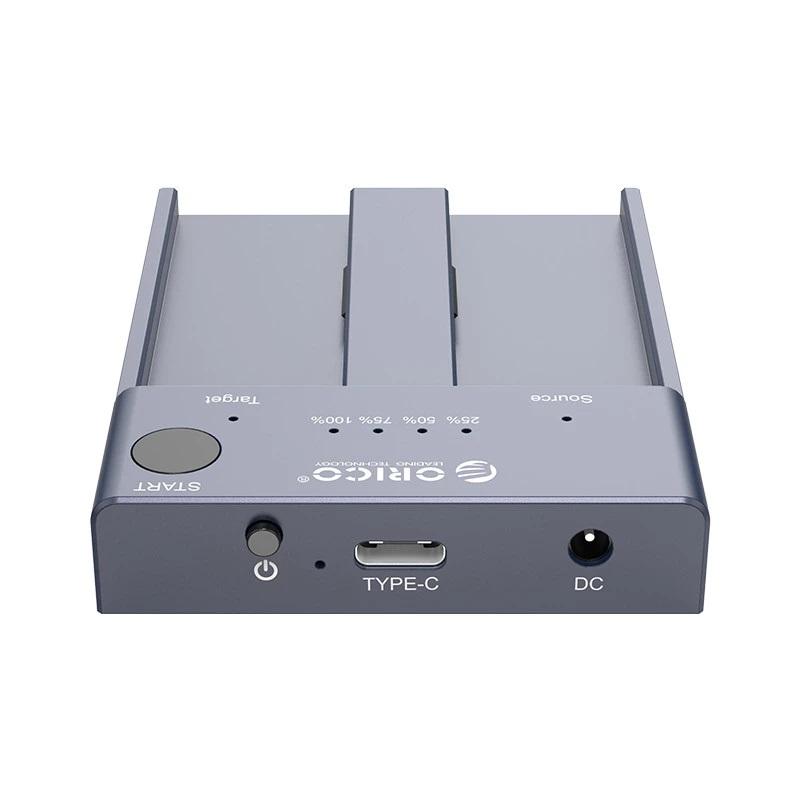 станция для внешних жестких дисков NVMe M.2 15 - Док-станция для внешних жестких дисков NVMe M.2 (до 4 ТБ), дубликатор SSD USB3.1 Type-C Orico M2P2-C3-C