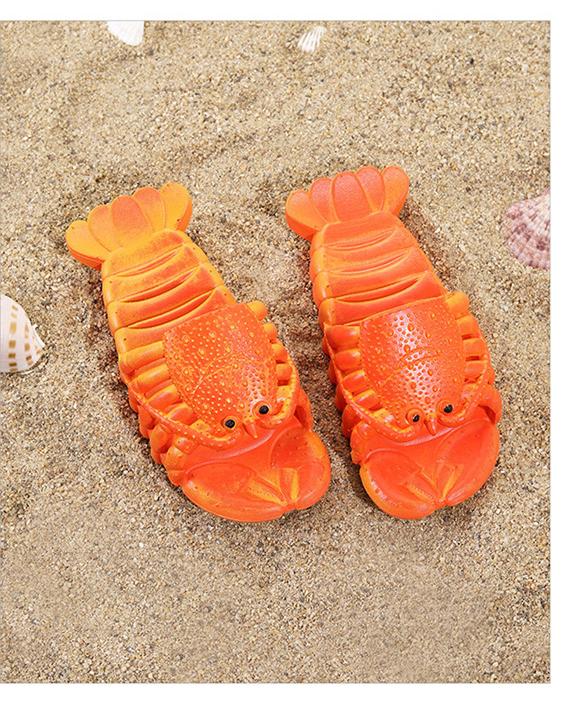 крабы пляжные шлепанцы в форме крабов 12 - Шлепки-крабы, пляжные шлепанцы в форме крабов, тапочки-лобстеры все размеры