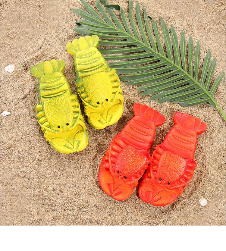 Шлепки-крабы, пляжные шлепанцы в форме крабов