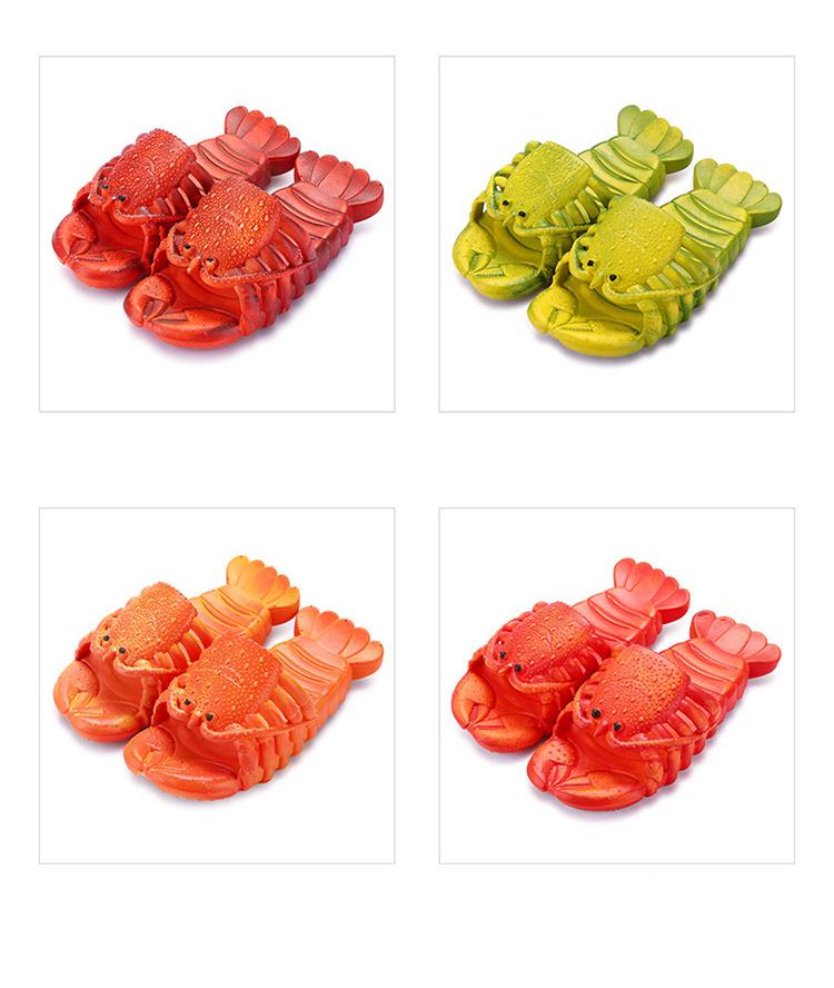 крабы пляжные шлепанцы в форме крабов 4 - Шлепки-крабы, пляжные шлепанцы в форме крабов, тапочки-лобстеры все размеры