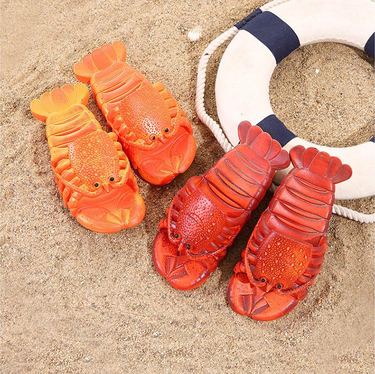 крабы пляжные шлепанцы в форме крабов 5 - Шлепки-крабы, пляжные шлепанцы в форме крабов, тапочки-лобстеры все размеры