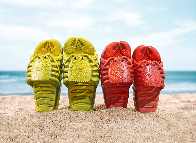 крабы пляжные шлепанцы в форме крабов 9 - Шлепки-крабы, пляжные шлепанцы в форме крабов, тапочки-лобстеры все размеры