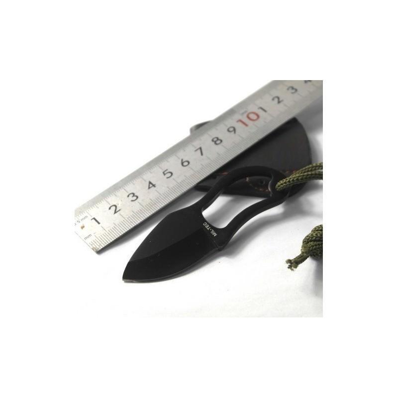 Швейцарский нательный нож-коготь Mil-Tec (в кожаных ножнах) 184064