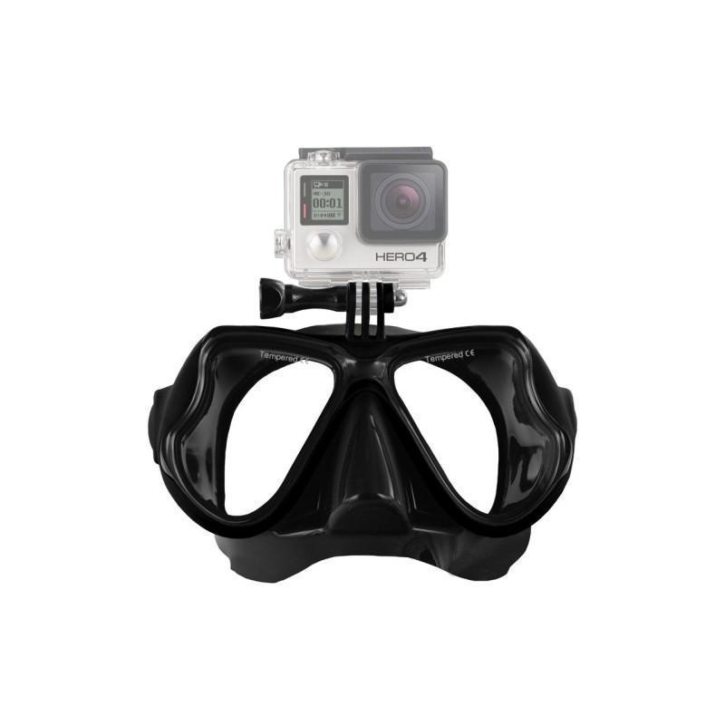 Маска для дайвинга с креплением для камер GoPro HERO4 /3+ /3 /2 /1 - Черный