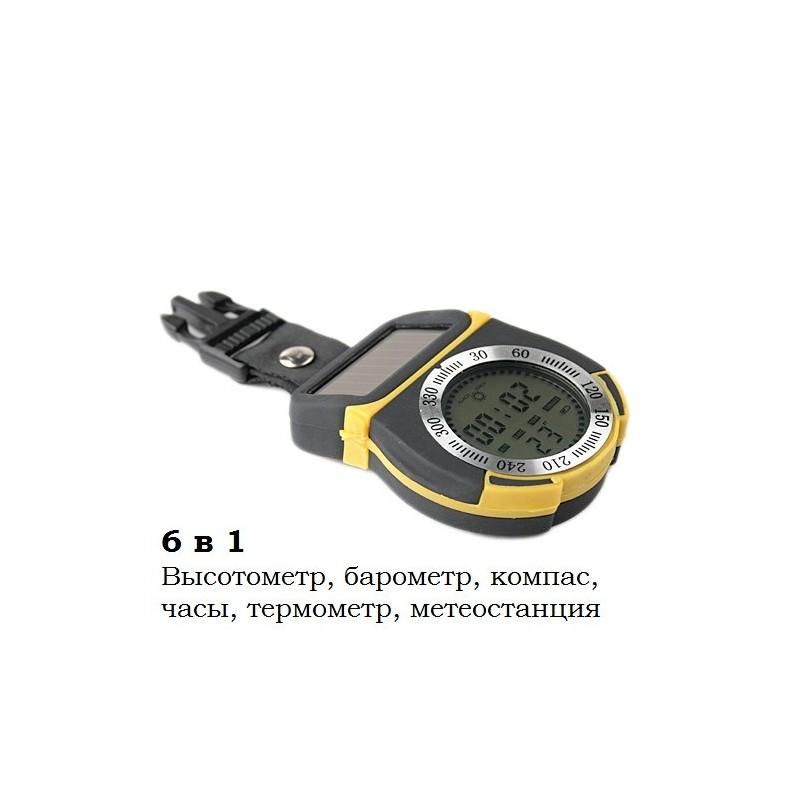 Многофункциональный альтиметр 6 в 1 – высотометр, компас, барометр, термометр, часы, метеостанция 192037