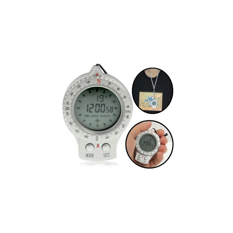 Портативный компас 4 в 1 – часы, секундомер, термометр, ЖК-дисплей, LED-подсветка