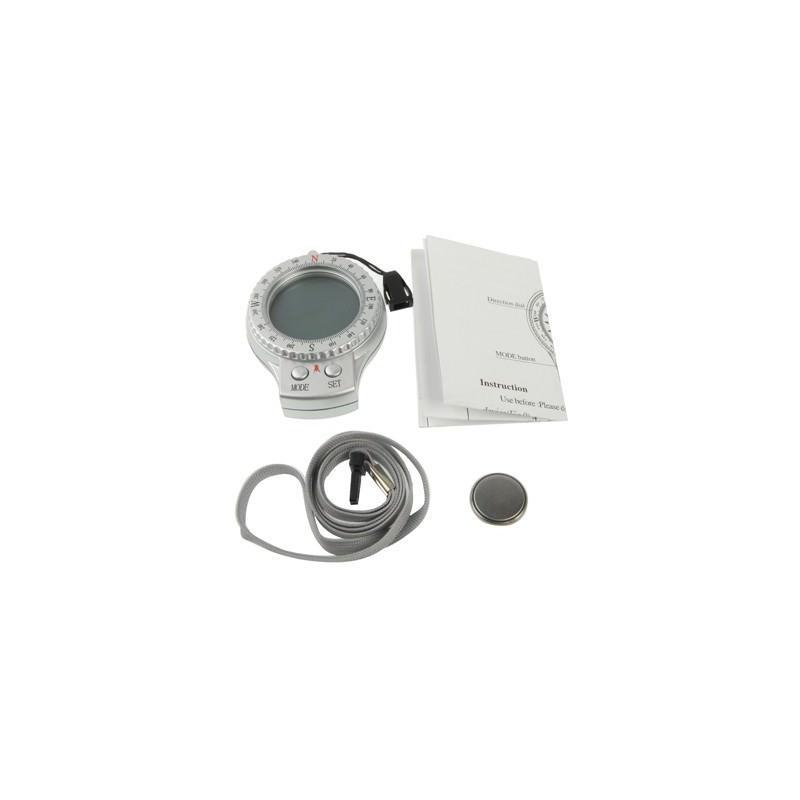 Портативный компас 4 в 1 – часы, секундомер, термометр, ЖК-дисплей, LED-подсветка 192045