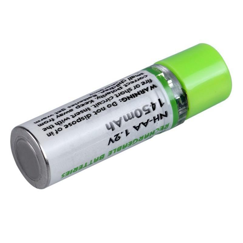 Пальчиковая аккумуляторная USB-батарейка (АА) – 1450 мAч, NiMH, 500 циклов, 2 штуки 192076