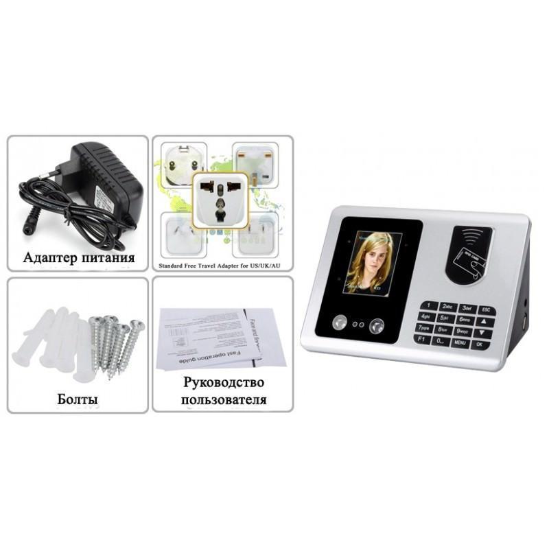 Система распознавания ID и лиц Danmini: база на 1000 пользователей/500 лиц/1000 карт, двойная камера, TFT-дисплей 2,8 дюйма 192242