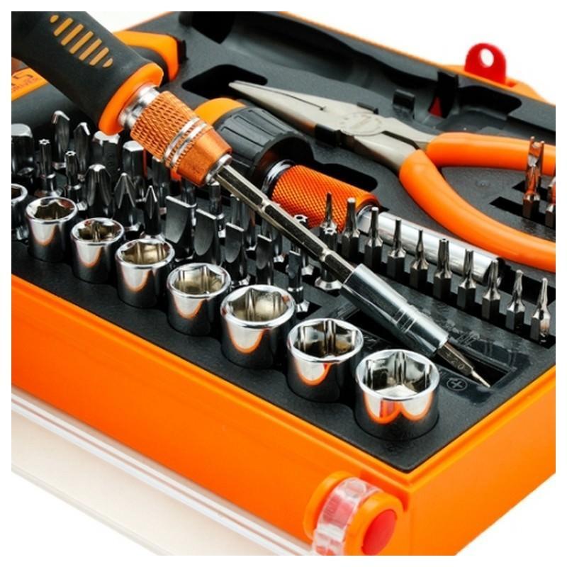 Универсальный набор инструментов Jakemy JM-6115 60 в 1 – хромованадиевая сталь, встроенный магнитайзер/демагнитайзер 192362