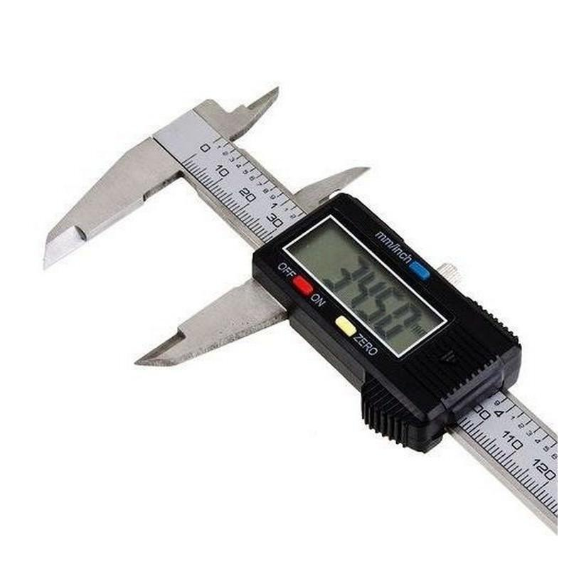 Цифровой штангенциркуль – шкала 150 мм (6″), ЖК-экран, погрешность менее 0,02 мм