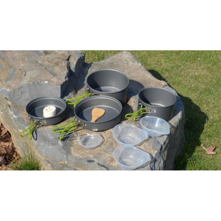 11576 - Набор походной посуды на 3 персоны DS-301: 10 предметов, анодированный алюминий