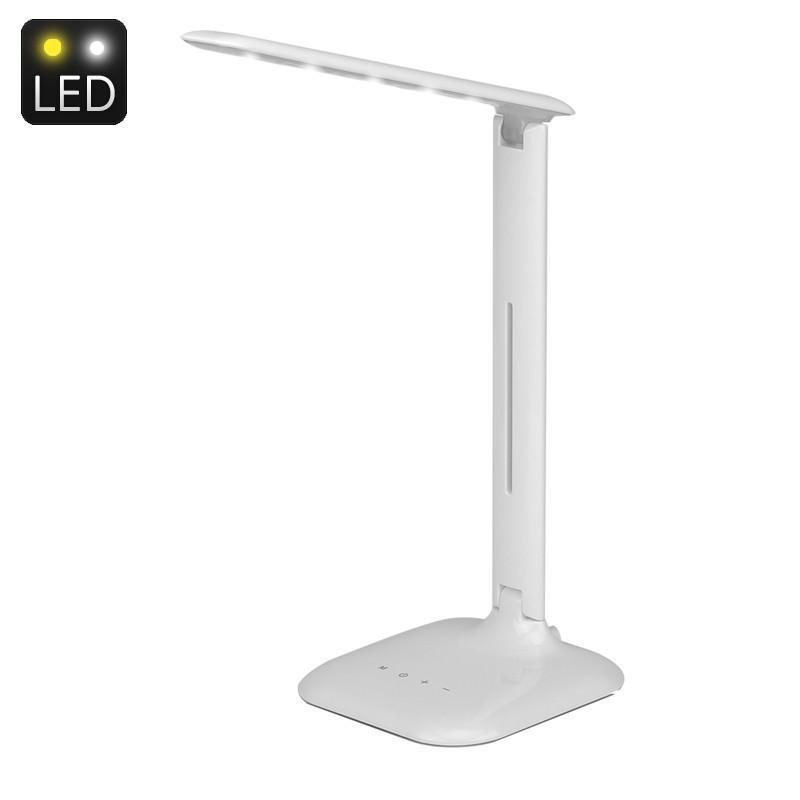 Настольная сенсорная LED-лампа: 5 Вт, 700 люкс, 5 режимов яркости, теплый, холодный, естественный свет