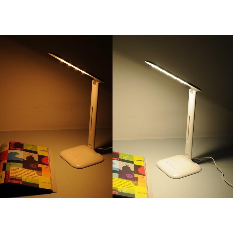 Настольная сенсорная LED-лампа: 5 Вт, 700 люкс, 5 режимов яркости, теплый, холодный, естественный свет 192638
