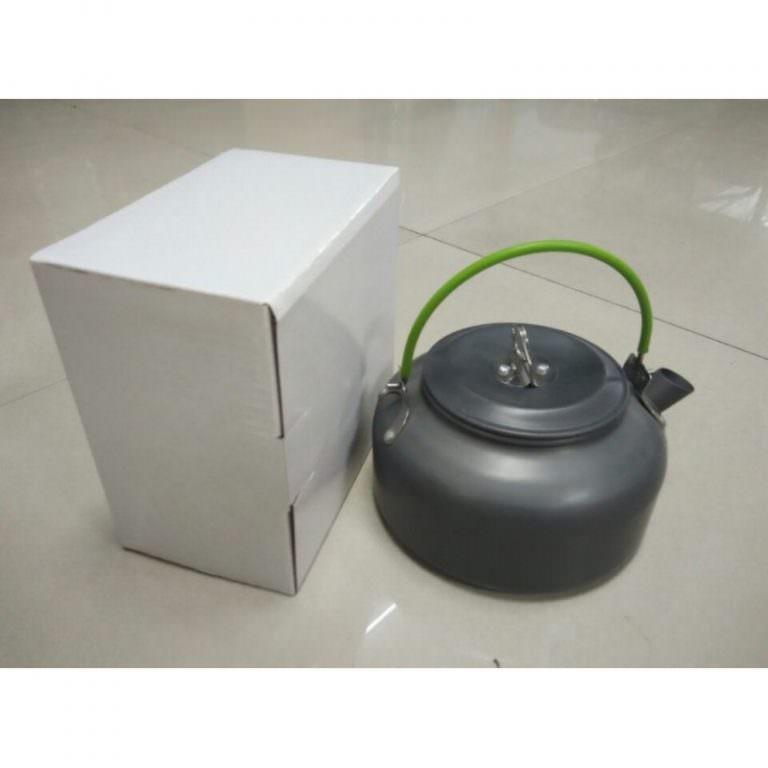 11652 - Портативный чайник для кемпинга - алюминиевый сплав, складные ручки, 0.8 л