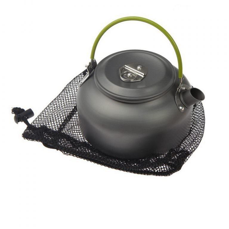 11655 - Портативный чайник для кемпинга - алюминиевый сплав, складные ручки, 0.8 л