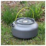 11656 thickbox default - Портативный чайник для кемпинга - алюминиевый сплав, складные ручки, 0.8 л
