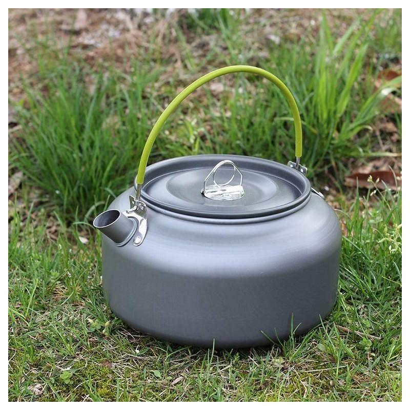 11656 - Портативный чайник для кемпинга - алюминиевый сплав, складные ручки, 0.8 л