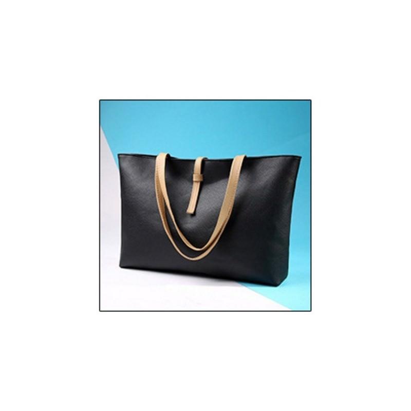Вместительная женская сумочка на каждый день Bursa Universal - Черный