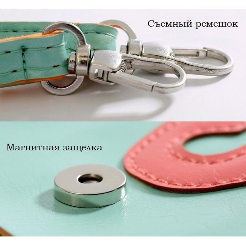 Женская мини-сумочка Bursa Festa – магнитная защелка, съемный ремешок, 3 отделения 192754