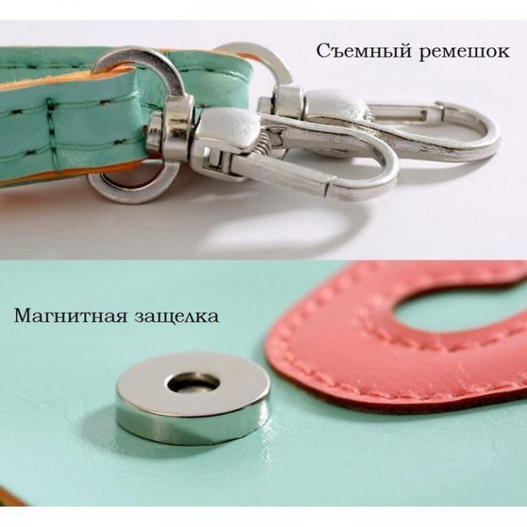 11794 - Яркая микро-сумочка Bursa Festa Child для денег и телефона - магнитная защелка, съемный ремешок, 3 отделения