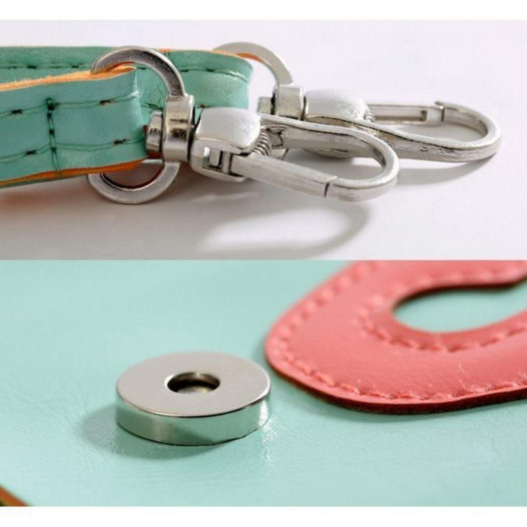 11797 - Яркая микро-сумочка Bursa Festa Child для денег и телефона - магнитная защелка, съемный ремешок, 3 отделения