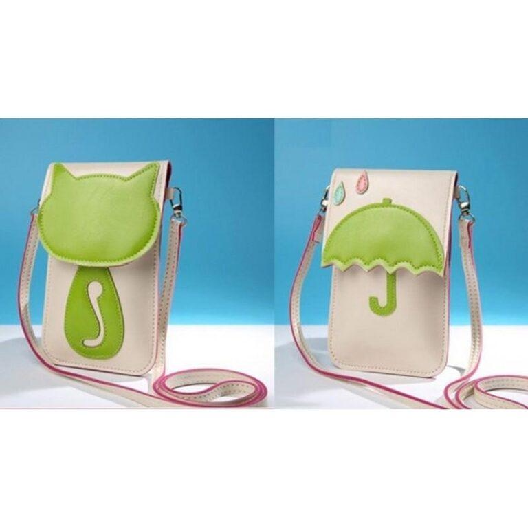 11800 - Яркая микро-сумочка Bursa Festa Child для денег и телефона - магнитная защелка, съемный ремешок, 3 отделения
