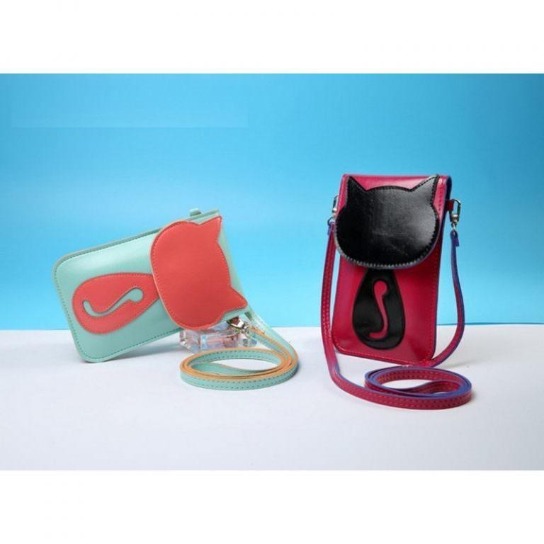 11802 - Яркая микро-сумочка Bursa Festa Child для денег и телефона - магнитная защелка, съемный ремешок, 3 отделения