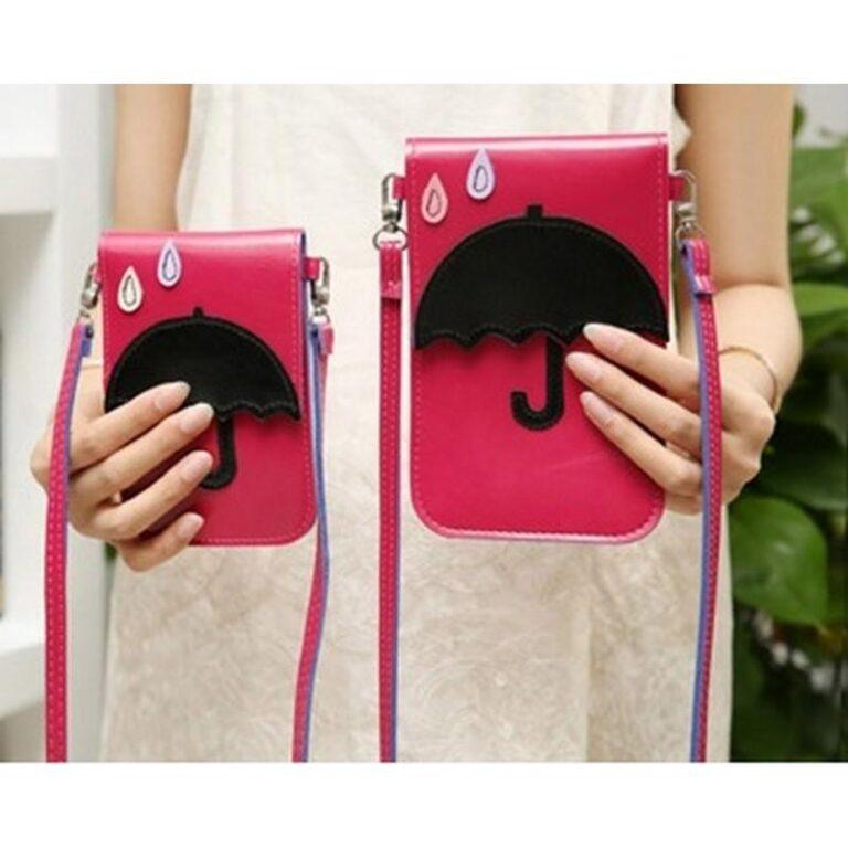 11810 - Яркая микро-сумочка Bursa Festa Child для денег и телефона - магнитная защелка, съемный ремешок, 3 отделения