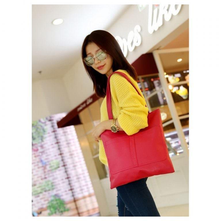 11875 - Сумка-мешок Bursa Torba - 5 модных расцветок, 2 внешних кармана