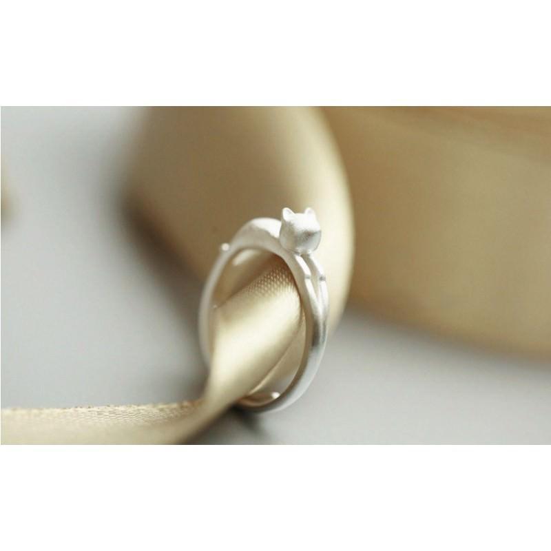 Серебристое кольцо Lazy Cat 192853